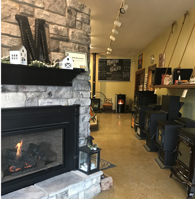 Photo Caption: A view of the showroom at PFI member and specialty hearth retailer Martin Sales and Service Inc. in Butler, Pennsylvania. The family-owned business has been serving the Pittsburg area community for longer than 25 years.